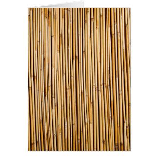 Usine en bambou tropicale de Brown botanique Cartes De Vœux