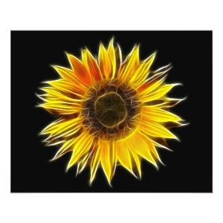 Usine jaune de fleur de Sun de tournesol Prospectus 11,4 Cm X 14,2 Cm