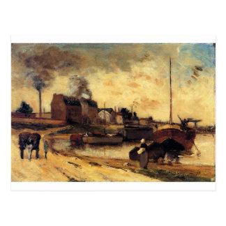 Usines de Cail et Quai de Grenelle par Paul Gaugui Carte Postale