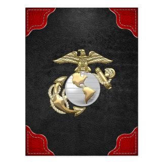 Usmc Eagle, globe et ancre (EGA) [3D] Carte Postale