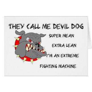 Usmc ils m'appellent chien de diable carte de vœux
