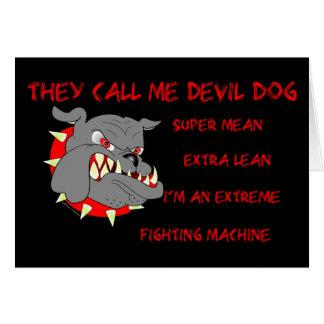 Usmc ils m'appellent chien de diable cartes
