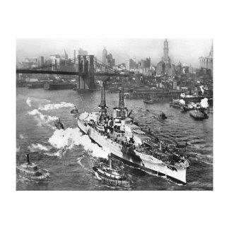 """USS Arizona a enveloppé l'affiche 19"""" de toile"""