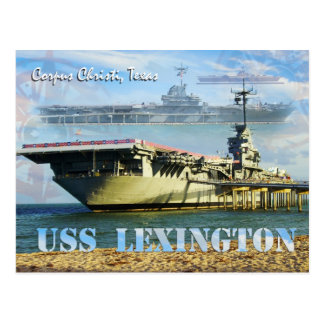 USS Lexington (CV-16), Corpus Christi, le Texas Cartes Postales