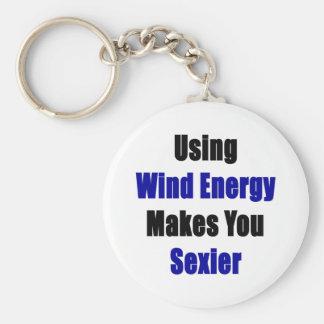 Utilisant l'énergie éolienne vous rend plus sexy porte-clé rond