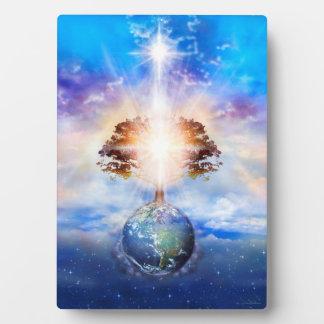 V004-Tree de lumière Plaque D'affichage