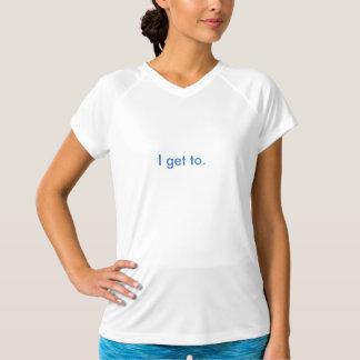 V des femmes - le sport Tek de cou a adapté le T-shirt