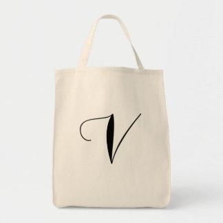V est pour Fourre-tout végétalien Sacs En Toile