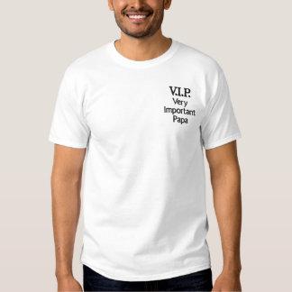 V.I.P. Papa très important T-shirt Brodé