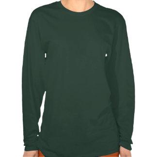 V noir et gris de poinsettia de Noël T-shirt