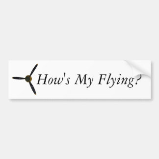 Va-t-il comment mon vol ? autocollant de voiture
