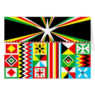 cartes de v ux motif tribal personnalis es. Black Bedroom Furniture Sets. Home Design Ideas