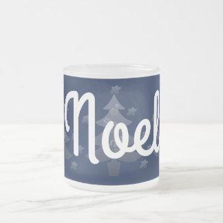 Vacances bleues mignonnes de Noël blanc Tasse Givré