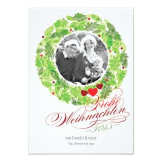Vacances couronne famille photo carte carton d'invitation  12,7 cm x 17,78 cm