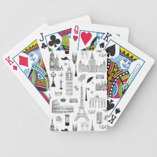 Vacances dans le motif de l'Europe Cartes À Jouer
