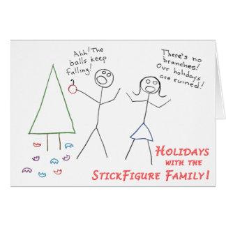 Vacances de famille de StickFigure Carte De Vœux