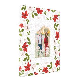 Vacances de fête florales dans le blanc toiles