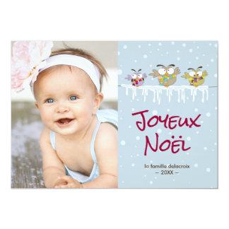 Vacances de Joyeux Noël carte de photo de Carton D'invitation 12,7 Cm X 17,78 Cm