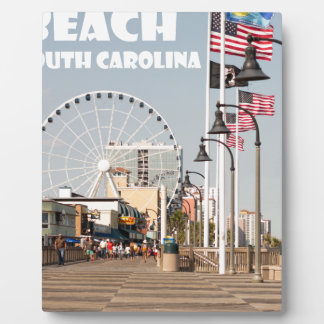 Vacances de la Caroline du Sud de promenade de Impression Sur Plaque