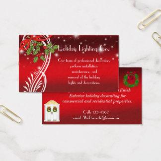 Vacances de Noël, carte de visite professionnel