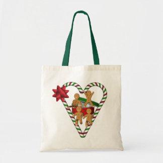 Vacances de Noël de bonhommes en pain d'épice Sac Fourre-tout