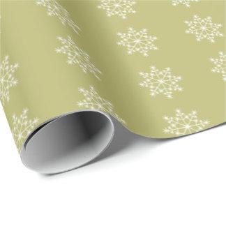 Vacances de Noël de vert olive de Noël de flocon Papier Cadeau Noël