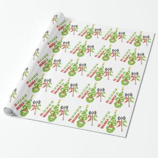 Vacances de Noël de Viking le Valhöll Papier Cadeau