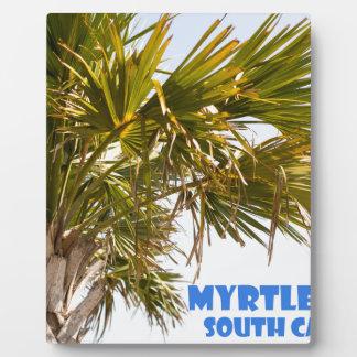 Vacances de palmier de Myrtle Beach la Caroline du Impression Sur Plaque
