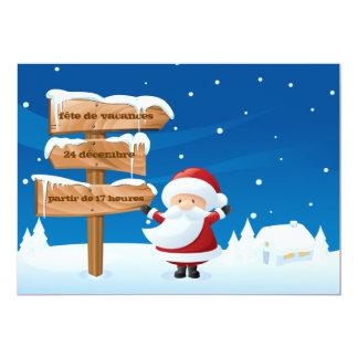 Vacances de Père Noël de fête de d'invitation de