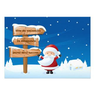 Vacances de Père Noël de fête de d'invitation de N