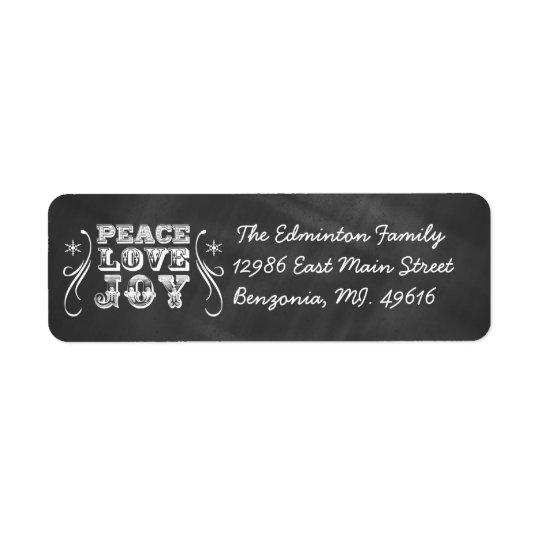 Vacances de tableau de joie d'amour de paix étiquettes d'adresse retour