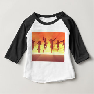 Vacances d'école de coupure d'été avec la t-shirt pour bébé