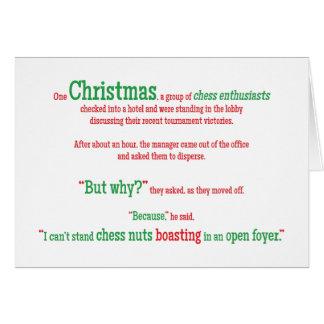 Vacances drôles de Noël de Noël de mot de Cartes De Vœux