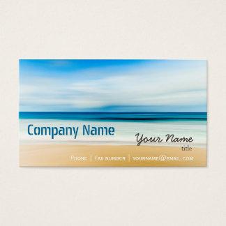 Vacances élégantes de voyage de spa de plage de cartes de visite