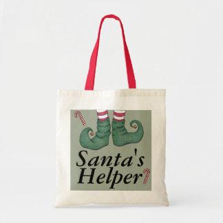 Vacances Elf de l'aide de Père Noël Sacs En Toile