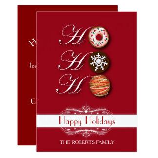 Vacances heureuses de biscuits de Noël de HoHoHo Carton D'invitation 12,7 Cm X 17,78 Cm