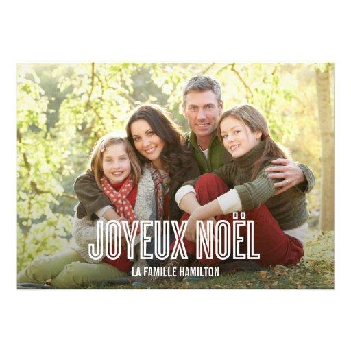 Vacances Joyeux Noël cartes photo Faire-part