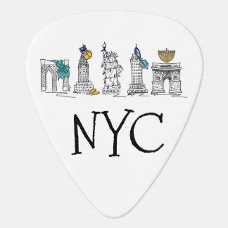Vacances juives Chanukah de New York City Hanoukka Onglet De Guitare