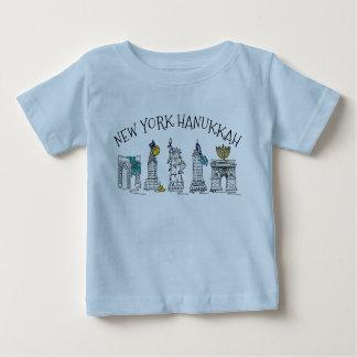 Vacances juives Chanukah de New York City Hanoukka T-shirt Pour Bébé