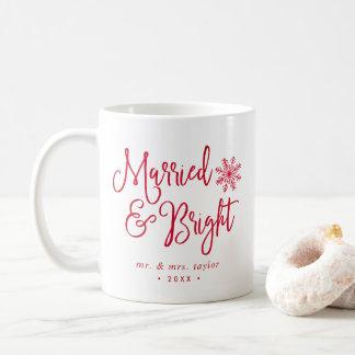 Vacances mariées et lumineuses de nouveaux mariés mug