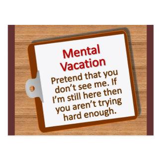 Vacances mentales carte postale