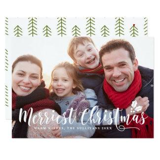 Vacances modernes II du plus Joyeux Noël de Carton D'invitation 12,7 Cm X 17,78 Cm