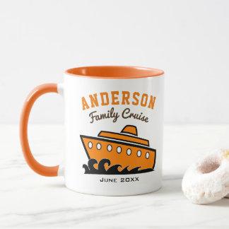 Vacances nommées faites sur commande de croisière mug