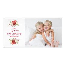 Vacances Photocard de la guirlande | de vacances Cartes De Vœux Avec Photo