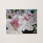 Vacances roses blanches de puzzle de jardin d'agré