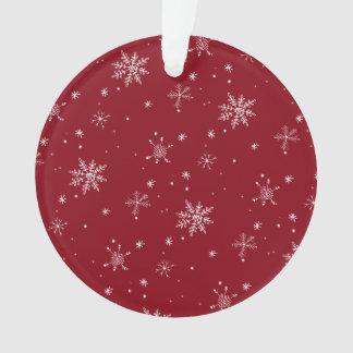 Vacances rouges de motif de flocon de neige