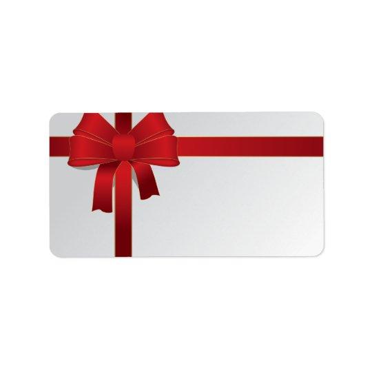 Vacances rouges de Noël d'arc Étiquette D'adresse