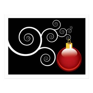 Vacances rouges élégantes de Noël d'ornement de Cartes Postales