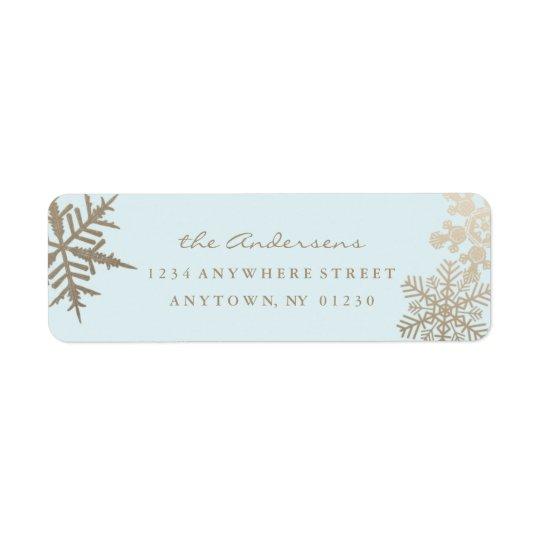 Vacances Snowflake* *Gilded par étiquette de