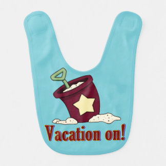 Vacances sur le bavoir de plage de bébé